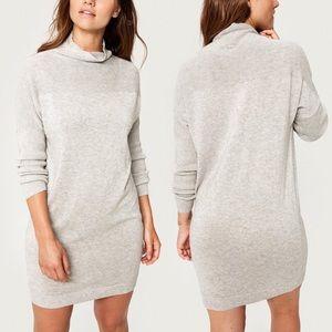 Lolë Mika Sweater Dress Light Heather Grey Medium